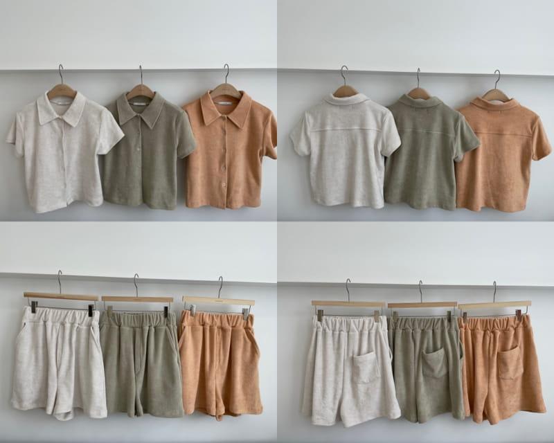 ONDO - Korean Children Fashion - #Kfashion4kids - Terry Top Bottom Set - 4