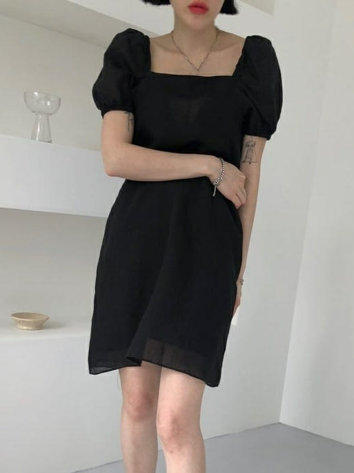 ONDO - Korean Children Fashion - #Kfashion4kids - 100 Puff Linen One-piece - 2