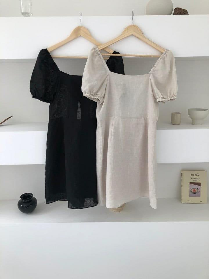 ONDO - Korean Children Fashion - #Kfashion4kids - 100 Puff Linen One-piece - 3