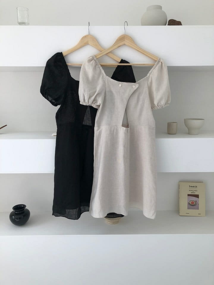 ONDO - Korean Children Fashion - #Kfashion4kids - 100 Puff Linen One-piece - 4