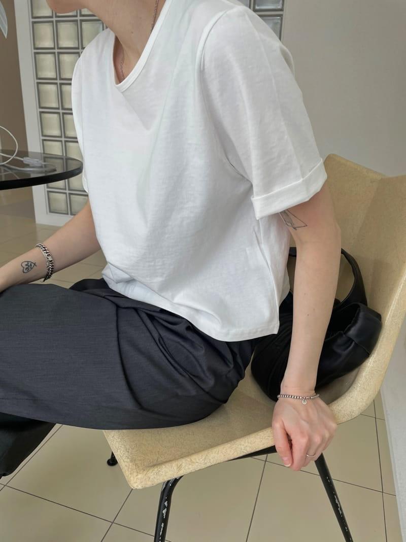 ONDO - Korean Children Fashion - #Kfashion4kids - Cabra cropped Short Sleeves Tee