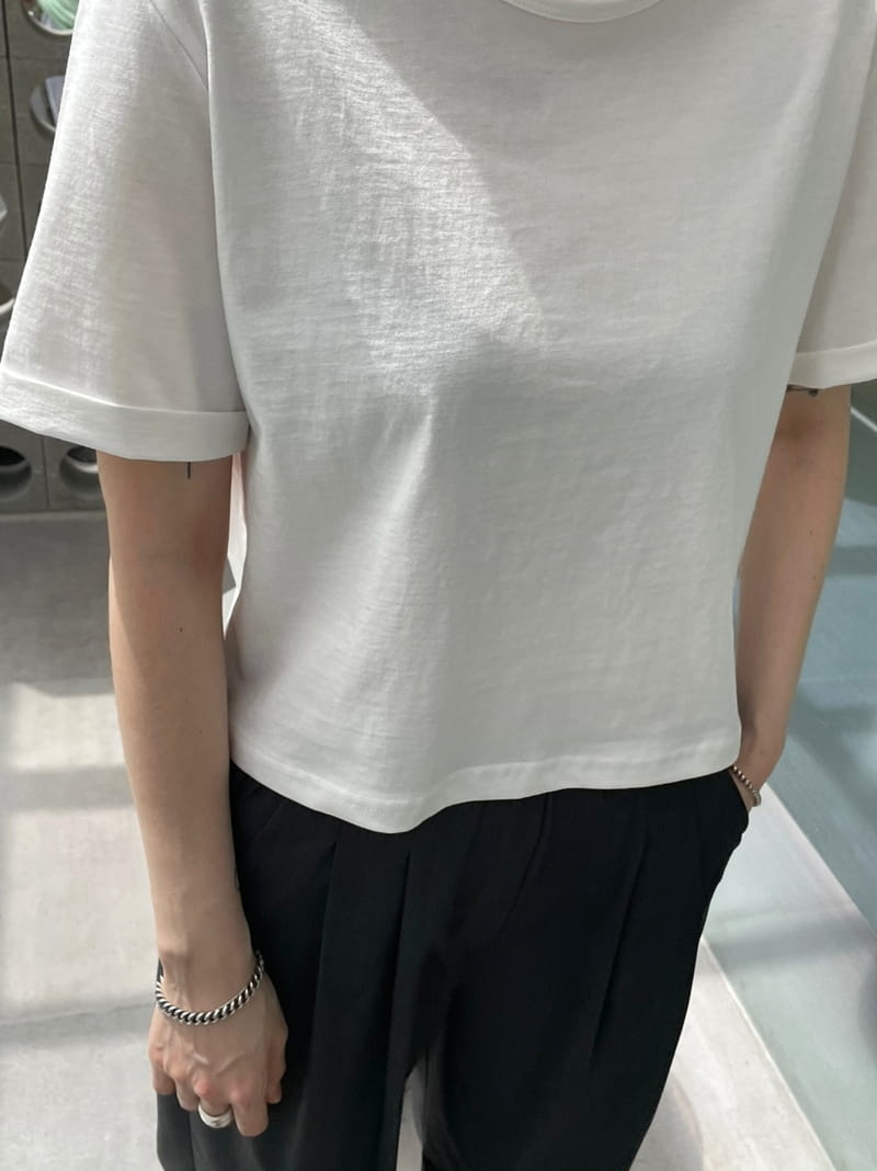 ONDO - BRAND - Korean Children Fashion - #Kfashion4kids - Cabra cropped Short Sleeves Tee