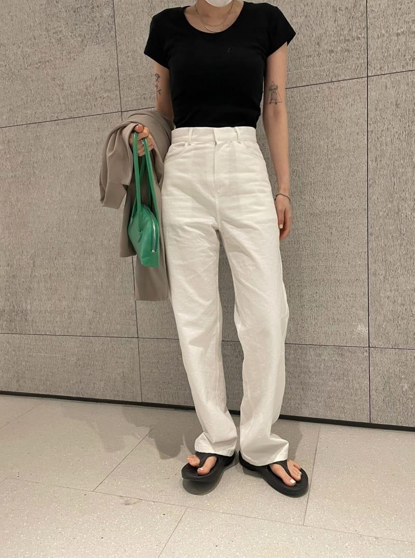 ONDO - Korean Children Fashion - #Kfashion4kids - Crop U-Neck Tee - 3
