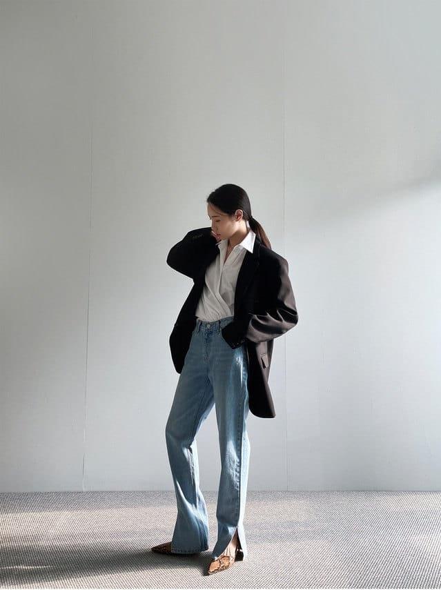 ONDO - Korean Children Fashion - #Kfashion4kids - Open Slit Jeans - 2
