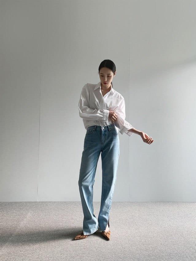 ONDO - BRAND - Korean Children Fashion - #Kfashion4kids - Open Slit Jeans