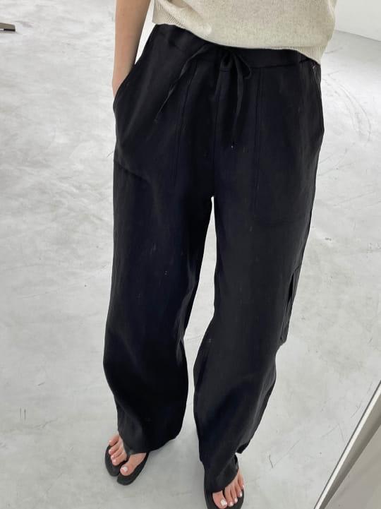 ONDO - Korean Children Fashion - #Kfashion4kids - 100 Pocket Linen Pleated Pants - 3