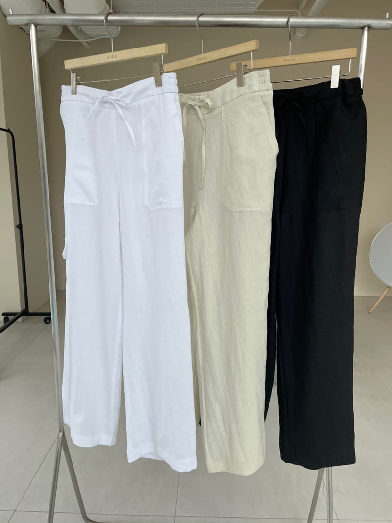 ONDO - Korean Children Fashion - #Kfashion4kids - 100 Pocket Linen Pleated Pants - 4