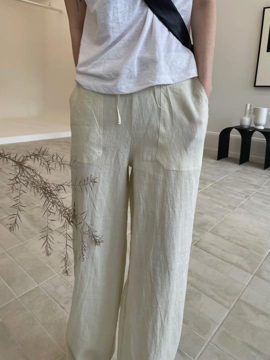 ONDO - BRAND - Korean Children Fashion - #Kfashion4kids - 100 Pocket Linen Pleated Pants