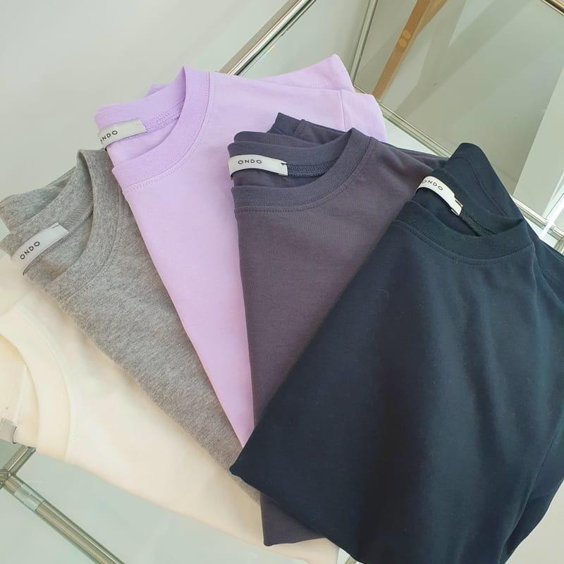 ONDO - Korean Children Fashion - #Kfashion4kids - Plan Short Sleeves Tee - 4