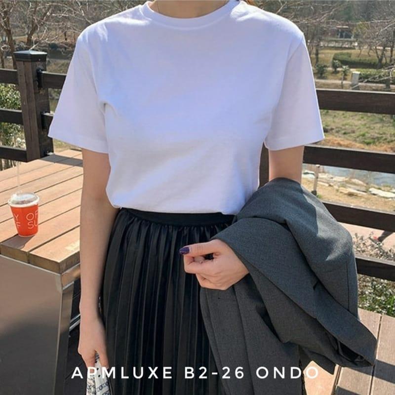 ONDO - BRAND - Korean Children Fashion - #Kfashion4kids - Plan Short Sleeves Tee