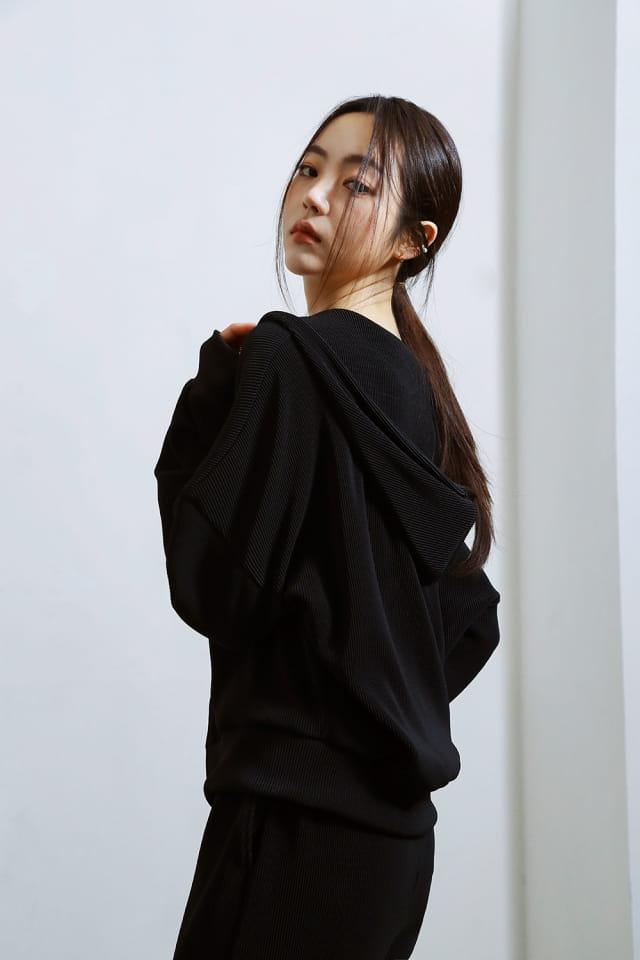 ONDO - Korean Children Fashion - #Kfashion4kids - Pleated Hood Zip-Up