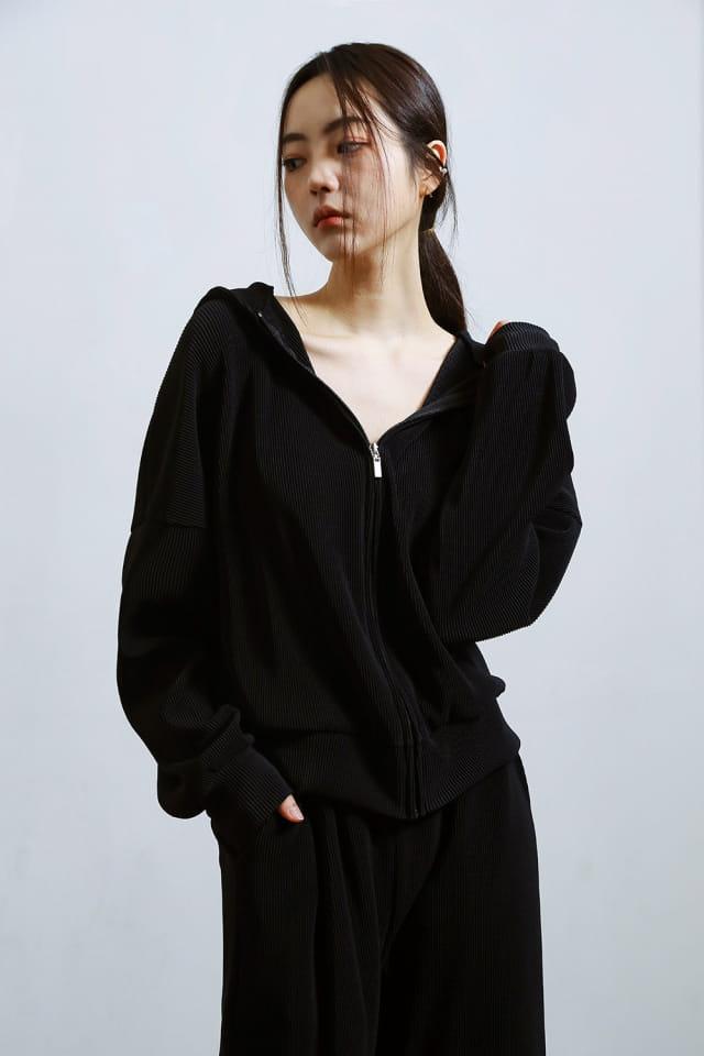 ONDO - Korean Children Fashion - #Kfashion4kids - Pleated Hood Zip-Up - 2