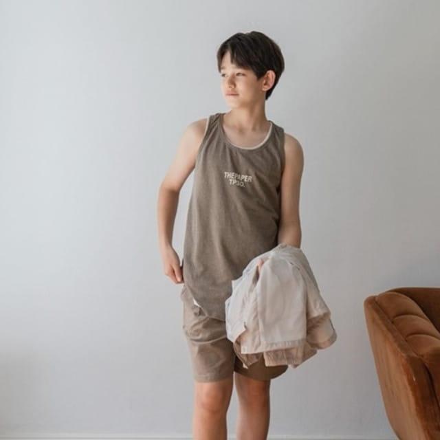 PAPER STUDIOS - BRAND - Korean Children Fashion - #Kfashion4kids - Pigment Sleeveless