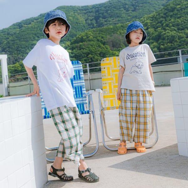 PEANUT - Korean Children Fashion - #Kfashion4kids - Delly Check Pants