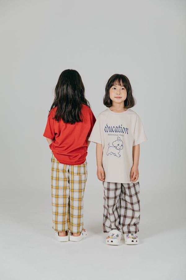 PEANUT - Korean Children Fashion - #Kfashion4kids - Delly Check Pants - 10
