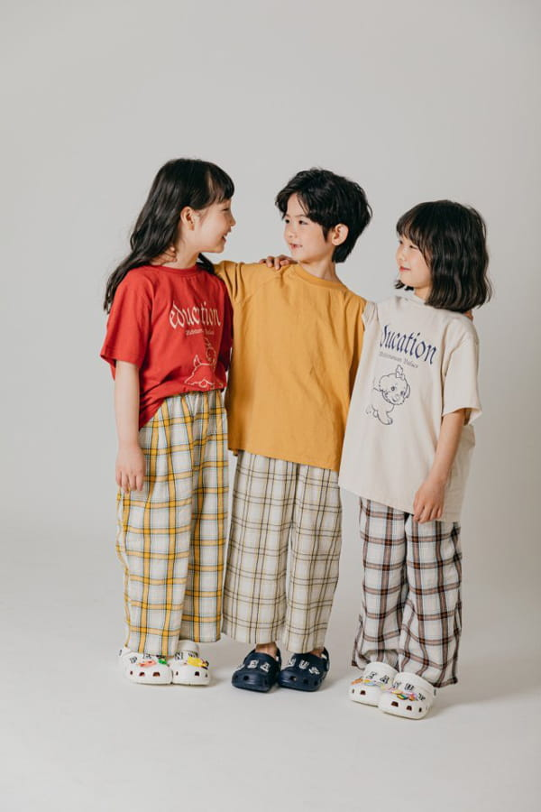 PEANUT - Korean Children Fashion - #Kfashion4kids - Delly Check Pants - 7