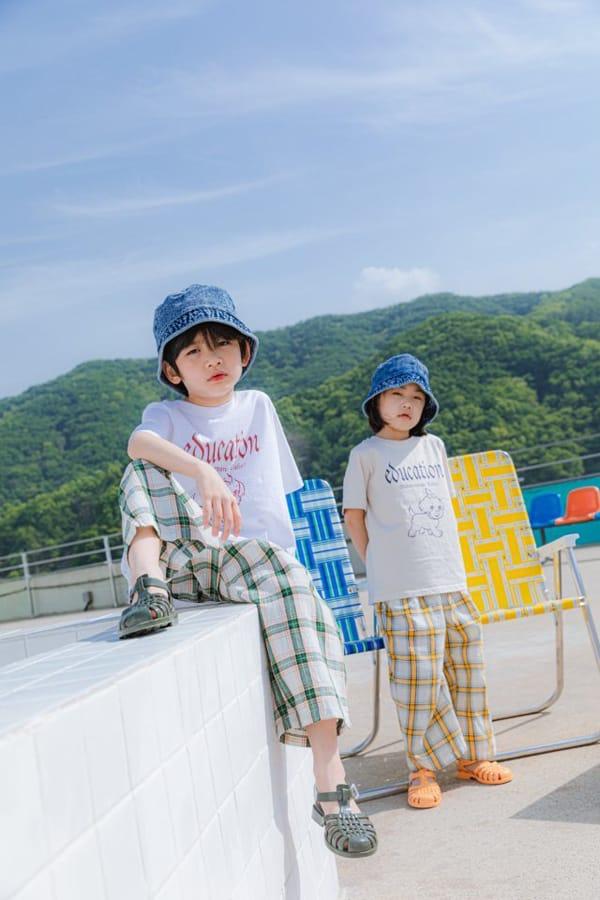 PEANUT - Korean Children Fashion - #Kfashion4kids - Delly Check Pants - 9