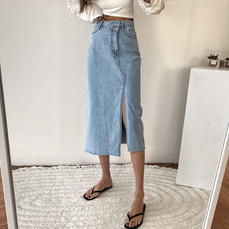 PERMIL - BRAND - Korean Children Fashion - #Kfashion4kids - Unbalanced Slit Skirt