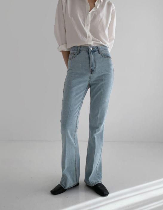PERMIL - Korean Children Fashion - #Kfashion4kids - Long Line Straight Bootcuts Pants - 3