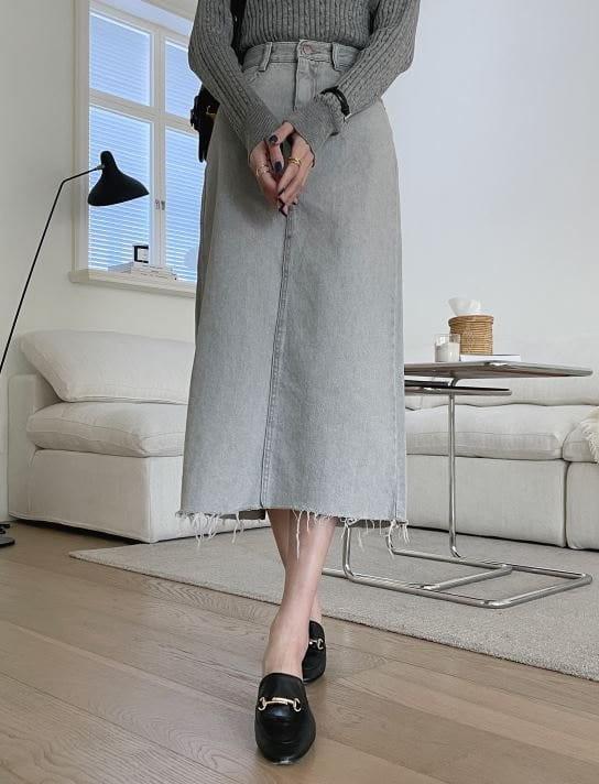 PERMIL - Korean Children Fashion - #Kfashion4kids - Back Slit Long Skirt - 3