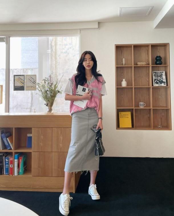 PERMIL - Korean Children Fashion - #Kfashion4kids - Back Slit Long Skirt - 5