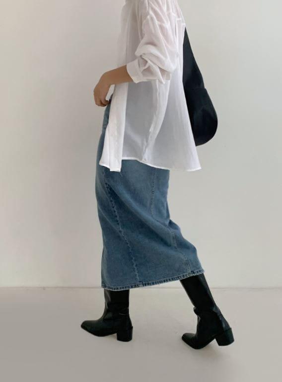 PERMIL - Korean Children Fashion - #Kfashion4kids - Nan Spandex Front Slit Long Skirt - 3