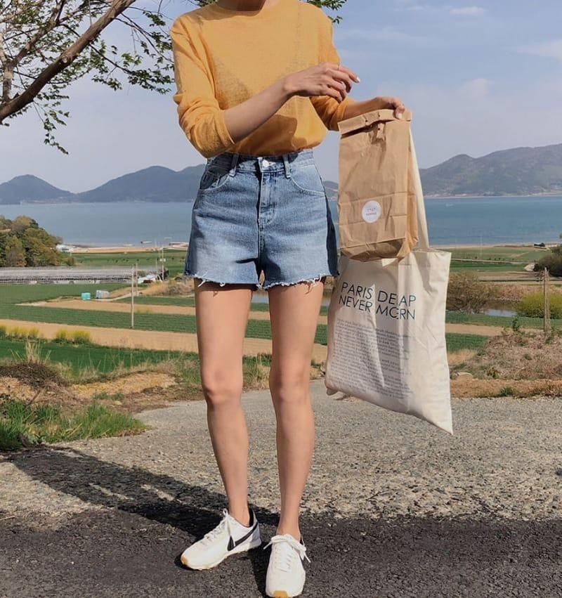 PERMIL - Korean Children Fashion - #Kfashion4kids - Nan Spandex Simple Shorts - 3