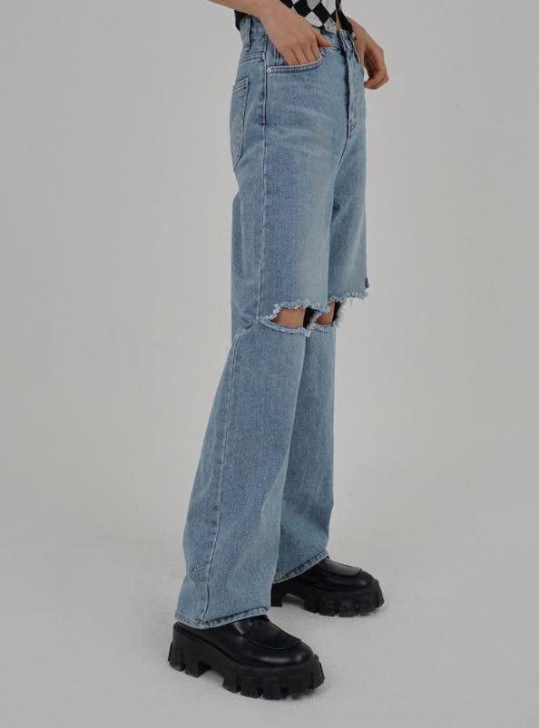 PERMIL - Korean Children Fashion - #Kfashion4kids - Nan span Vintage Long Straight Pants - 2