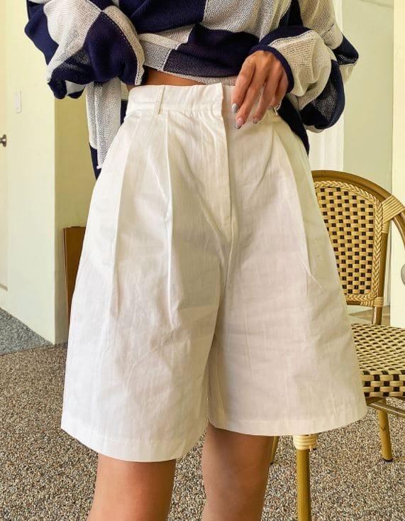PERMIL - BRAND - Korean Children Fashion - #Kfashion4kids - Pintuck Half-Length Shorts
