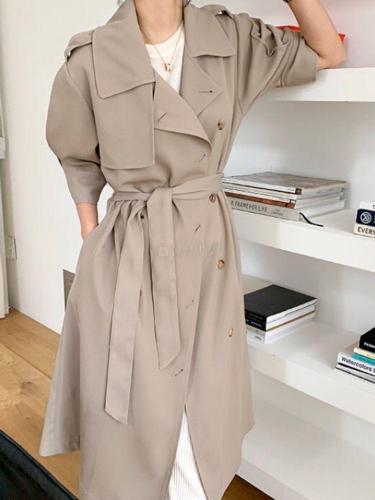 THE SAND - Korean Children Fashion - #Kfashion4kids - Short Sleeves Burberry Coat