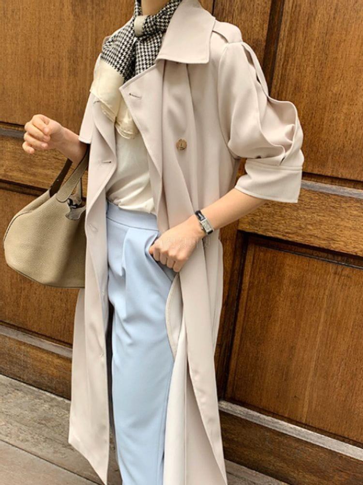 THE SAND - Korean Children Fashion - #Kfashion4kids - Short Sleeves Burberry Coat - 2