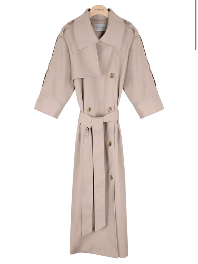 THE SAND - Korean Children Fashion - #Kfashion4kids - Short Sleeves Burberry Coat - 3