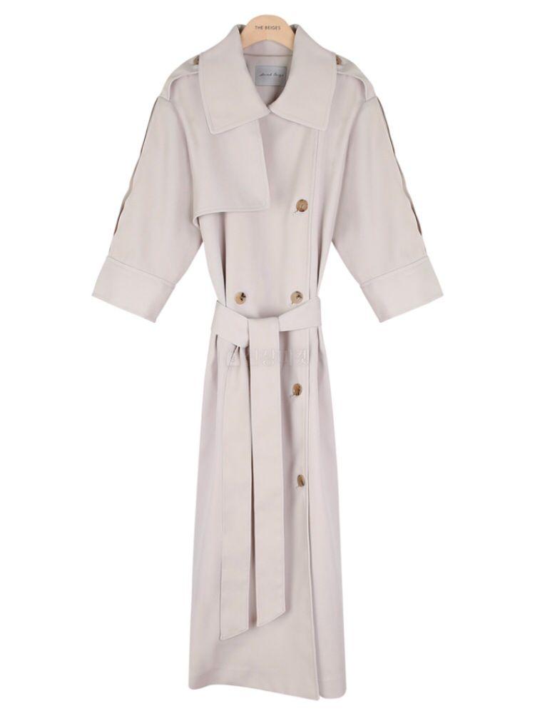 THE SAND - Korean Children Fashion - #Kfashion4kids - Short Sleeves Burberry Coat - 4
