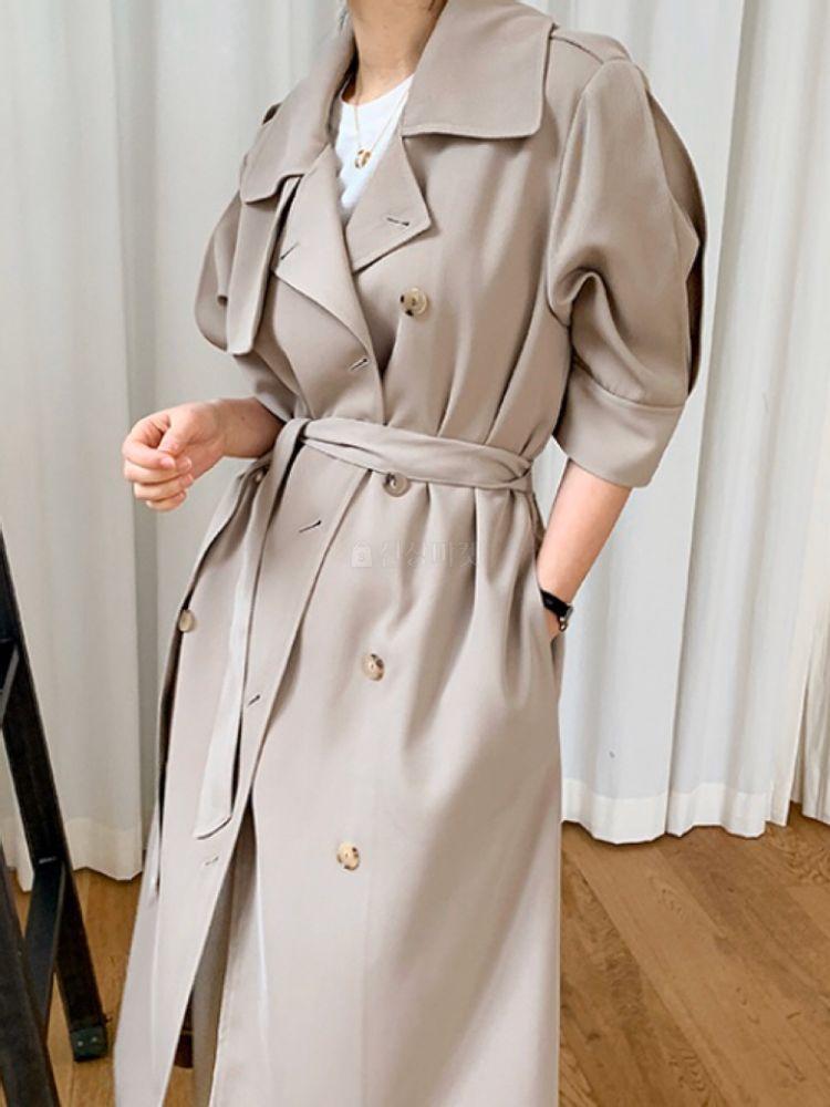 THE SAND - BRAND - Korean Children Fashion - #Kfashion4kids - Short Sleeves Burberry Coat