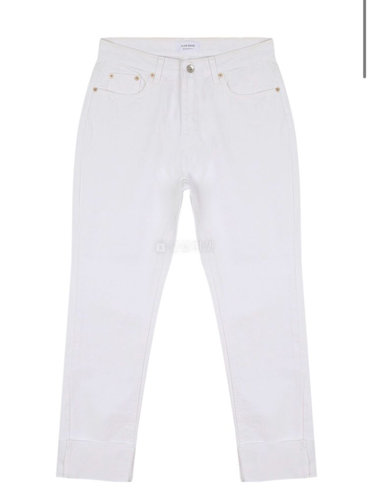 THE SAND - Korean Children Fashion - #Kfashion4kids - White Roll-up Jeans - 2