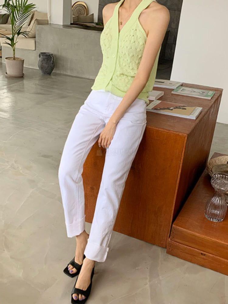 THE SAND - BRAND - Korean Children Fashion - #Kfashion4kids - White Roll-up Jeans