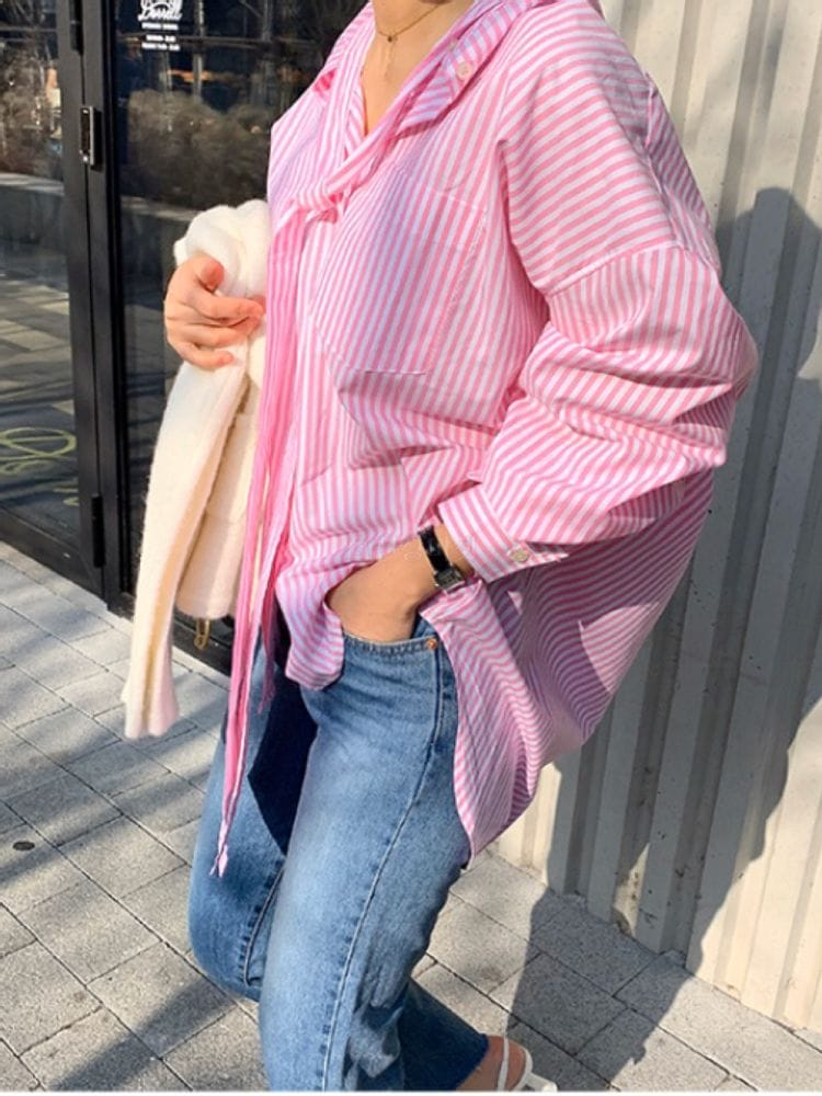 THE SAND - Korean Children Fashion - #Kfashion4kids - Long Ribbon Shirts