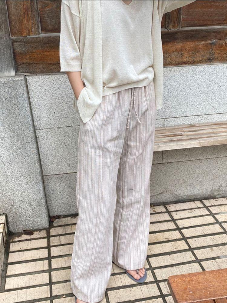 WEARING - BRAND - Korean Children Fashion - #Kfashion4kids - Hippy Linen Pants