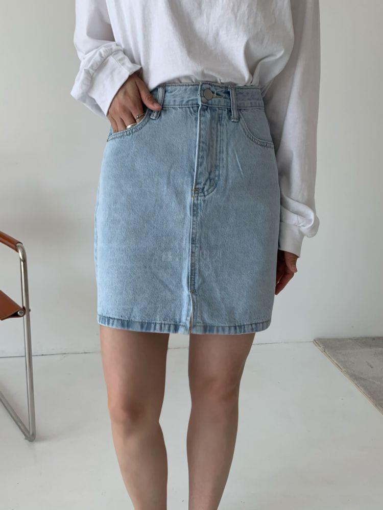 WEARING - Korean Children Fashion - #Kfashion4kids - Denim Shorts Skirt