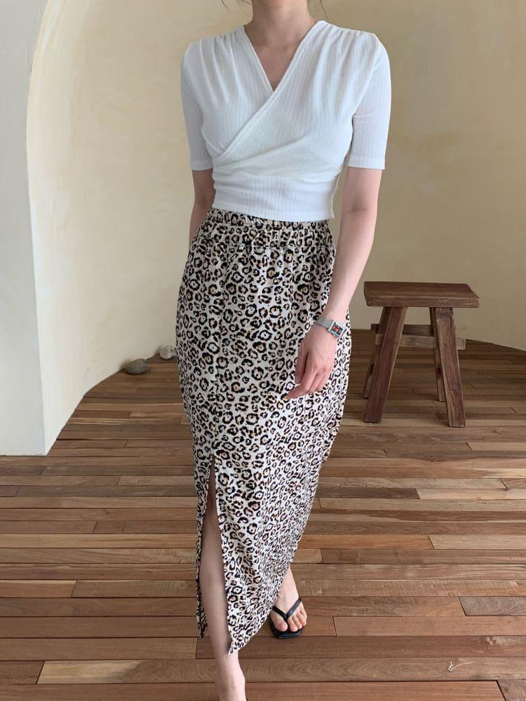 WEARING - Korean Children Fashion - #Kfashion4kids - Leopard Skirt - 2
