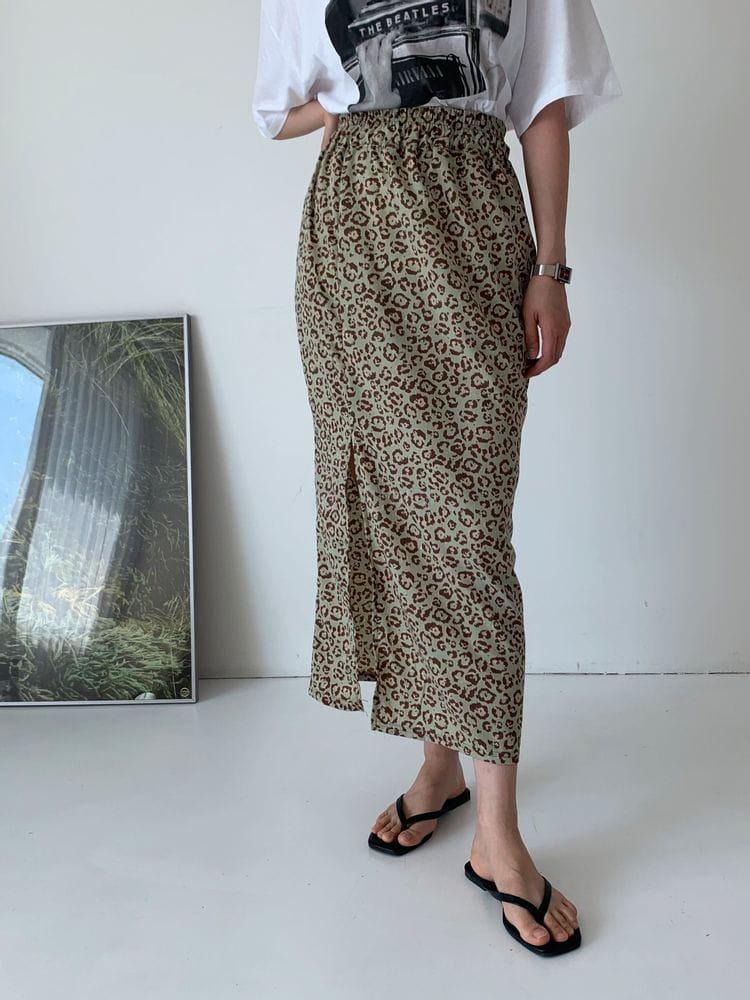 WEARING - Korean Children Fashion - #Kfashion4kids - Leopard Skirt - 3