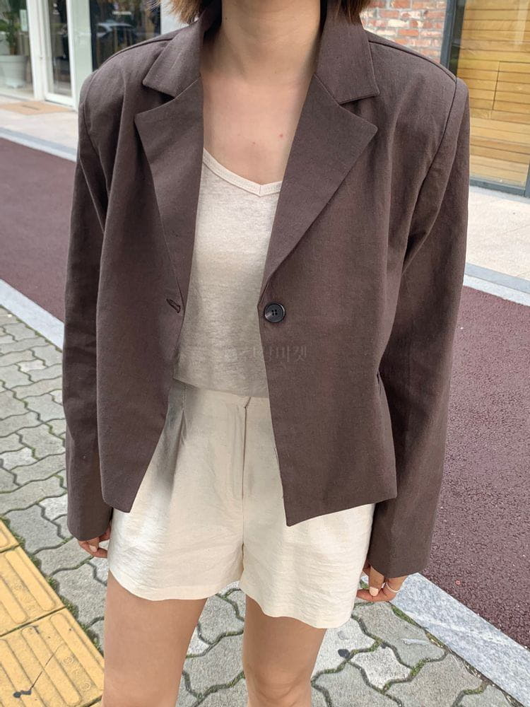 WEARING - Korean Children Fashion - #Kfashion4kids - Heblinen Cropped Jacket