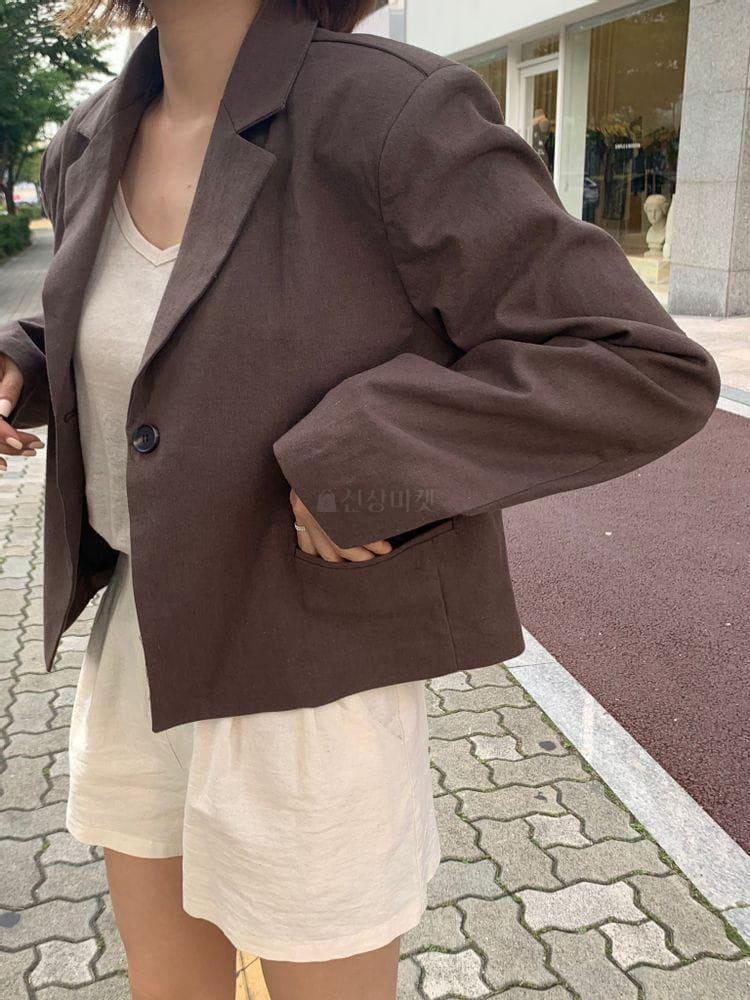 WEARING - BRAND - Korean Children Fashion - #Kfashion4kids - Heblinen Cropped Jacket