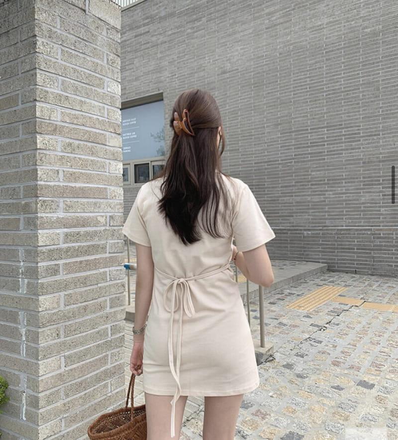 YES I LIKE YOU - Korean Children Fashion - #Kfashion4kids - Collar String One-piece - 3