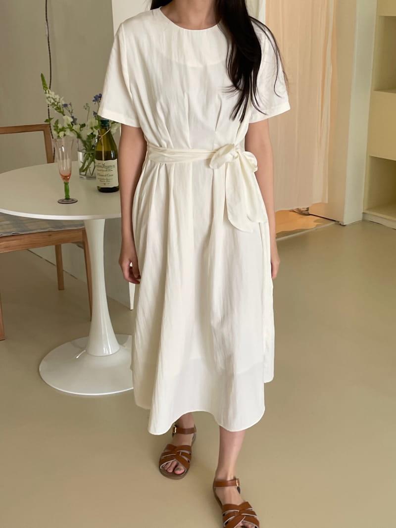YES I LIKE YOU - Korean Children Fashion - #Kfashion4kids - Short Sleeves Pintuck One-piece