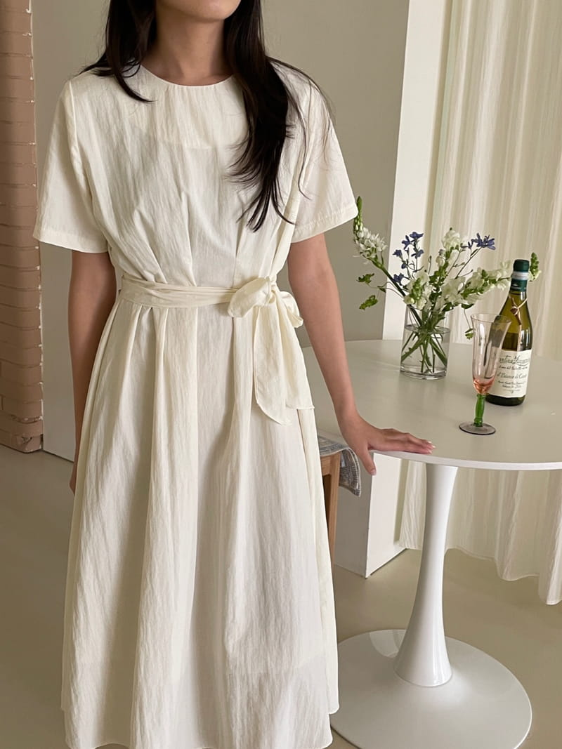 YES I LIKE YOU - Korean Children Fashion - #Kfashion4kids - Short Sleeves Pintuck One-piece - 4