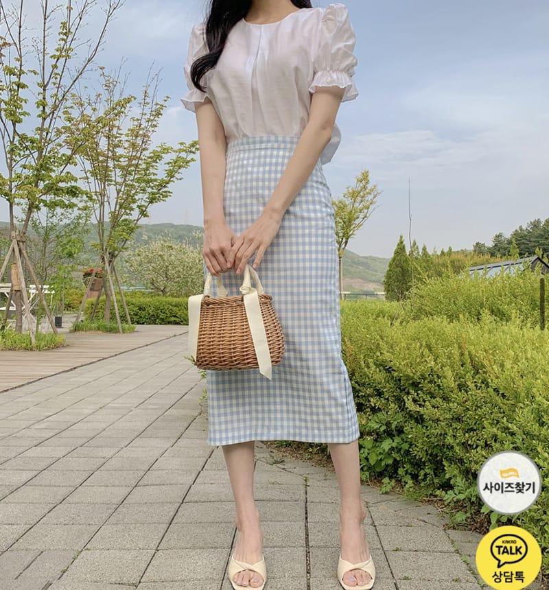 YES I LIKE YOU - Korean Children Fashion - #Kfashion4kids - Mimi Check Skirt