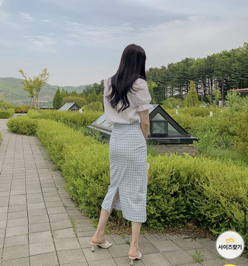 YES I LIKE YOU - Korean Children Fashion - #Kfashion4kids - Mimi Check Skirt - 2