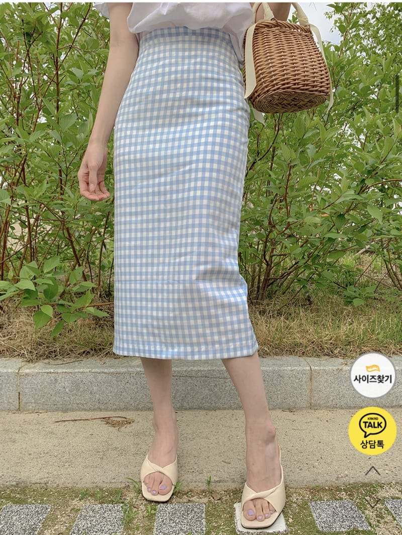 YES I LIKE YOU - BRAND - Korean Children Fashion - #Kfashion4kids - Mimi Check Skirt
