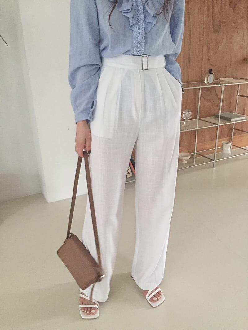 YES I LIKE YOU - Korean Children Fashion - #Kfashion4kids - Linen Belt Pants